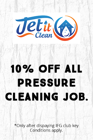 10% off all pressure cleaning jobs.