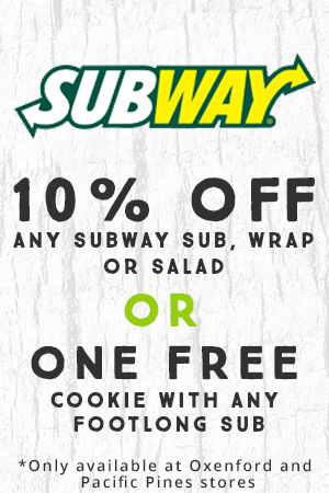 Subway Member Benefit 10% Subway Sub, Salad or Wrap OR One Free Cookie with Footlong Sub Purchase