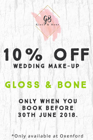 glass and bone 10% wedding bookings when booked before 30th June