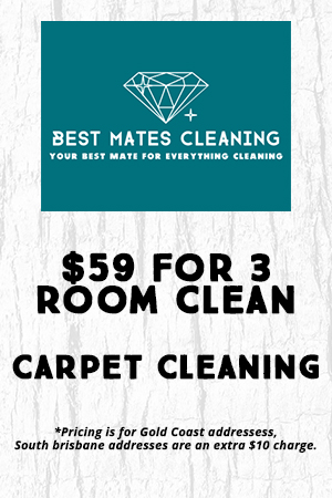 Best Mates Cleaning $59 for 3 rooms carpet cleaning