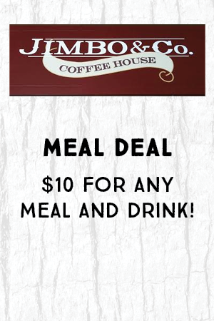 Meal Deal $10 for any meal and drink!