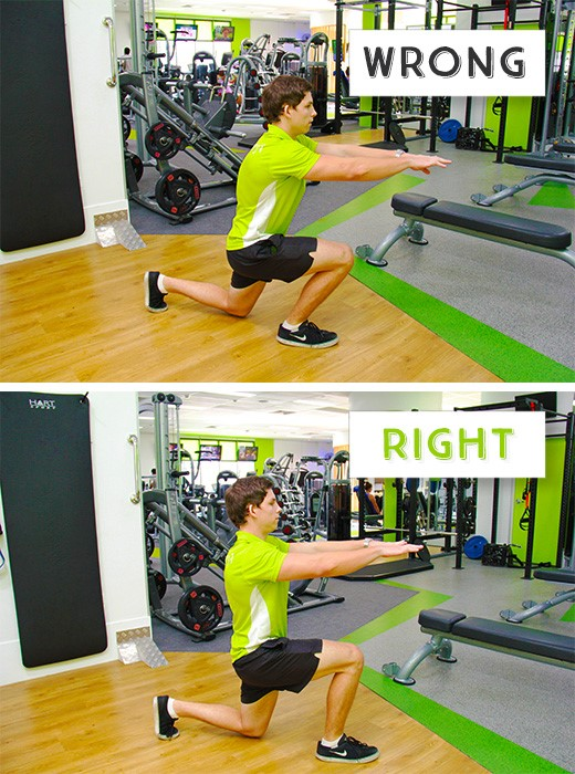 how to do the perfect lunge