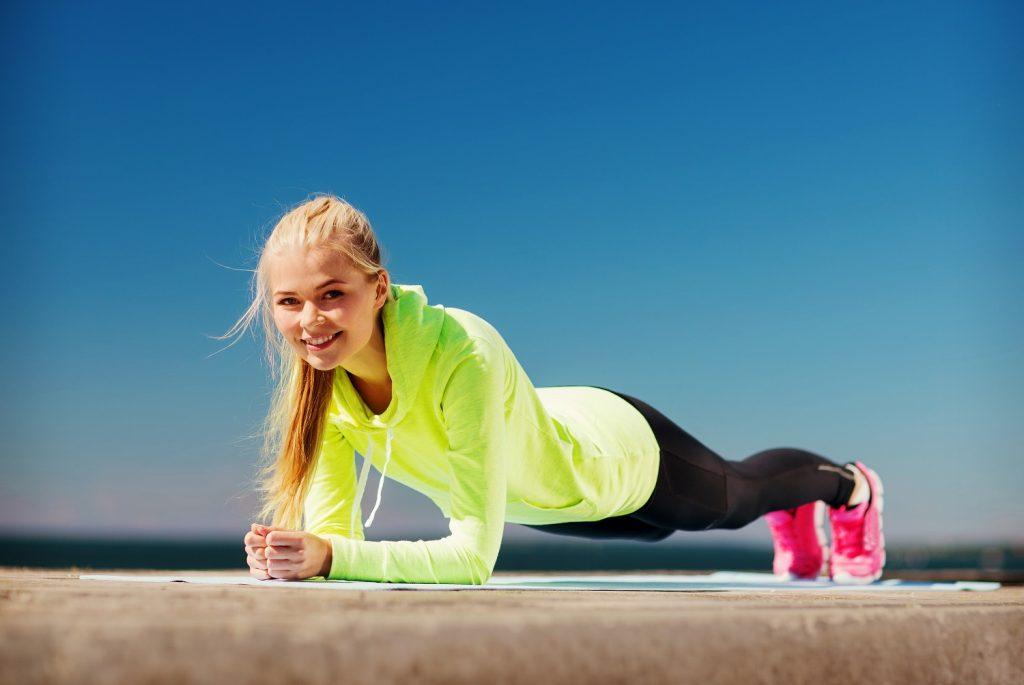 Girl Doing Fitness Plank