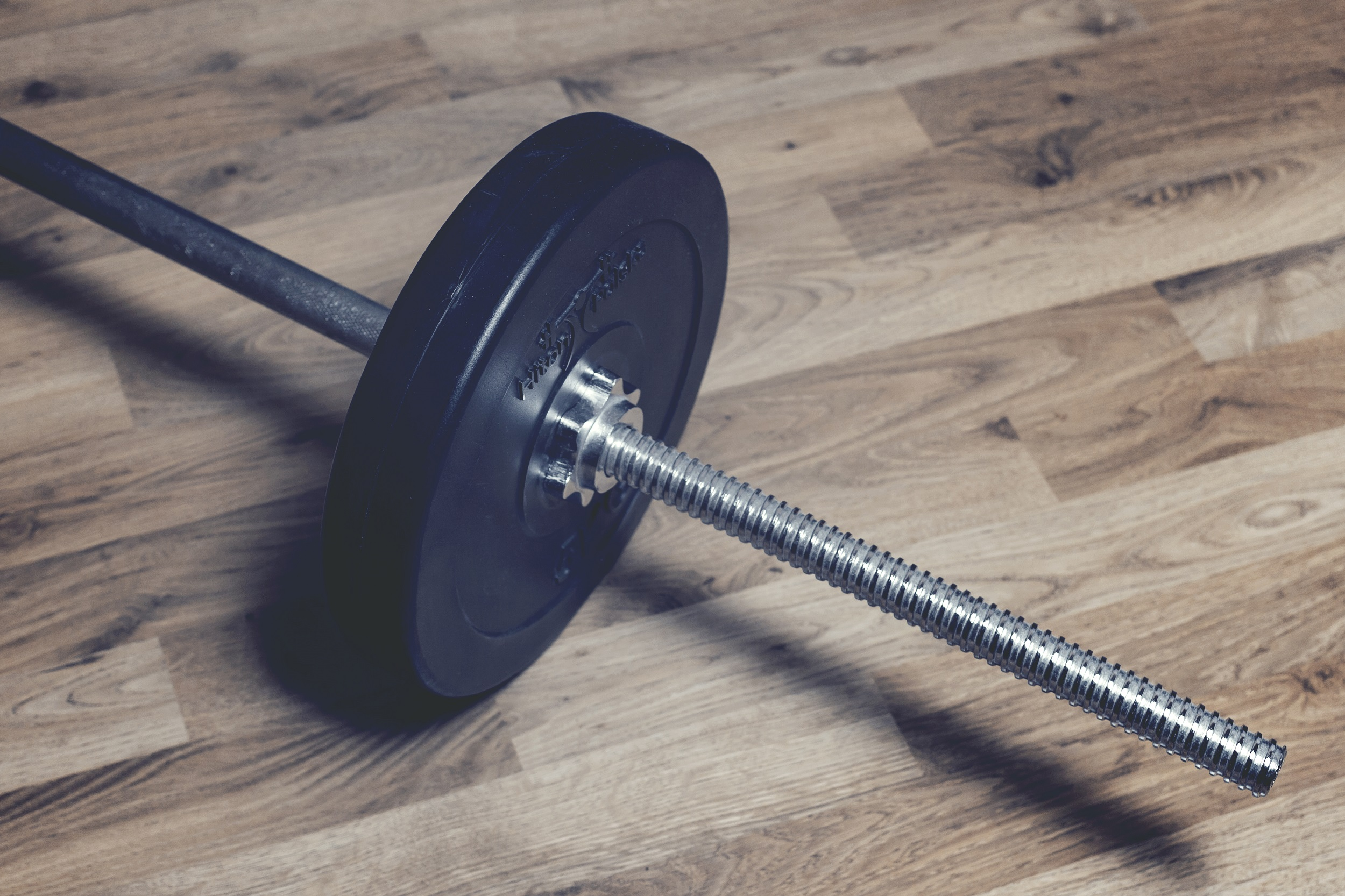 weights on floor