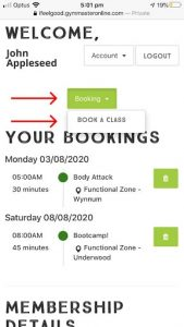 class bookings